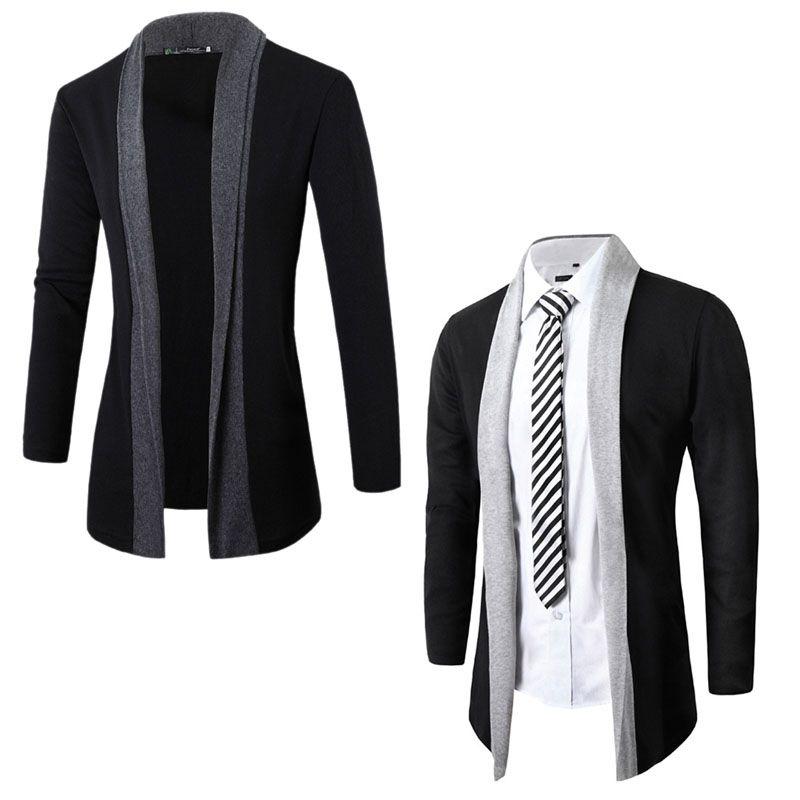 887d59ccdc Click to Buy << Fashion Men's Stylish Slim Fit Knit V-Neck Cardigan Long  Sweater Coat Jacket #Affiliate
