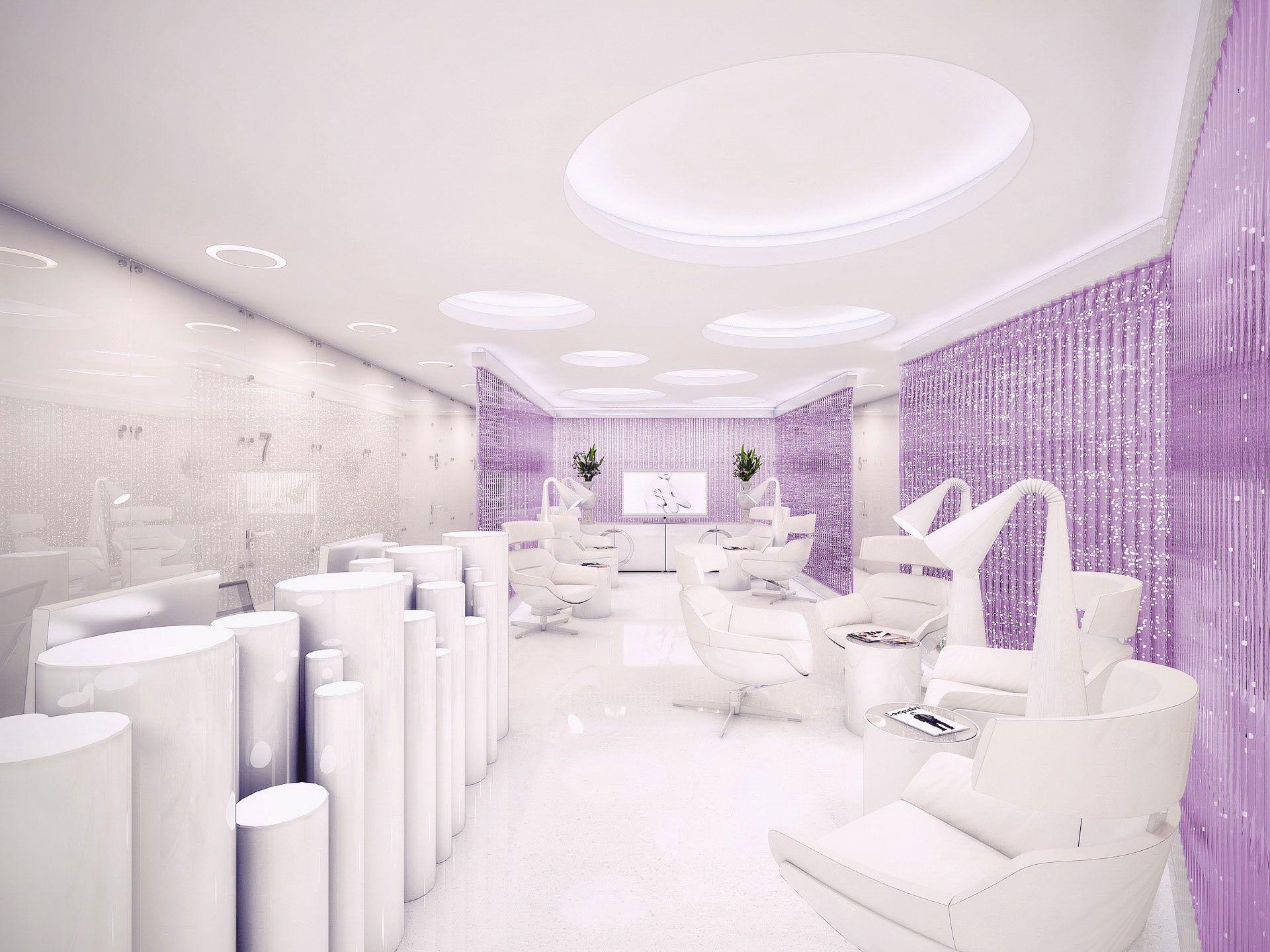 White And Purple Living Room Interior Design Ideas