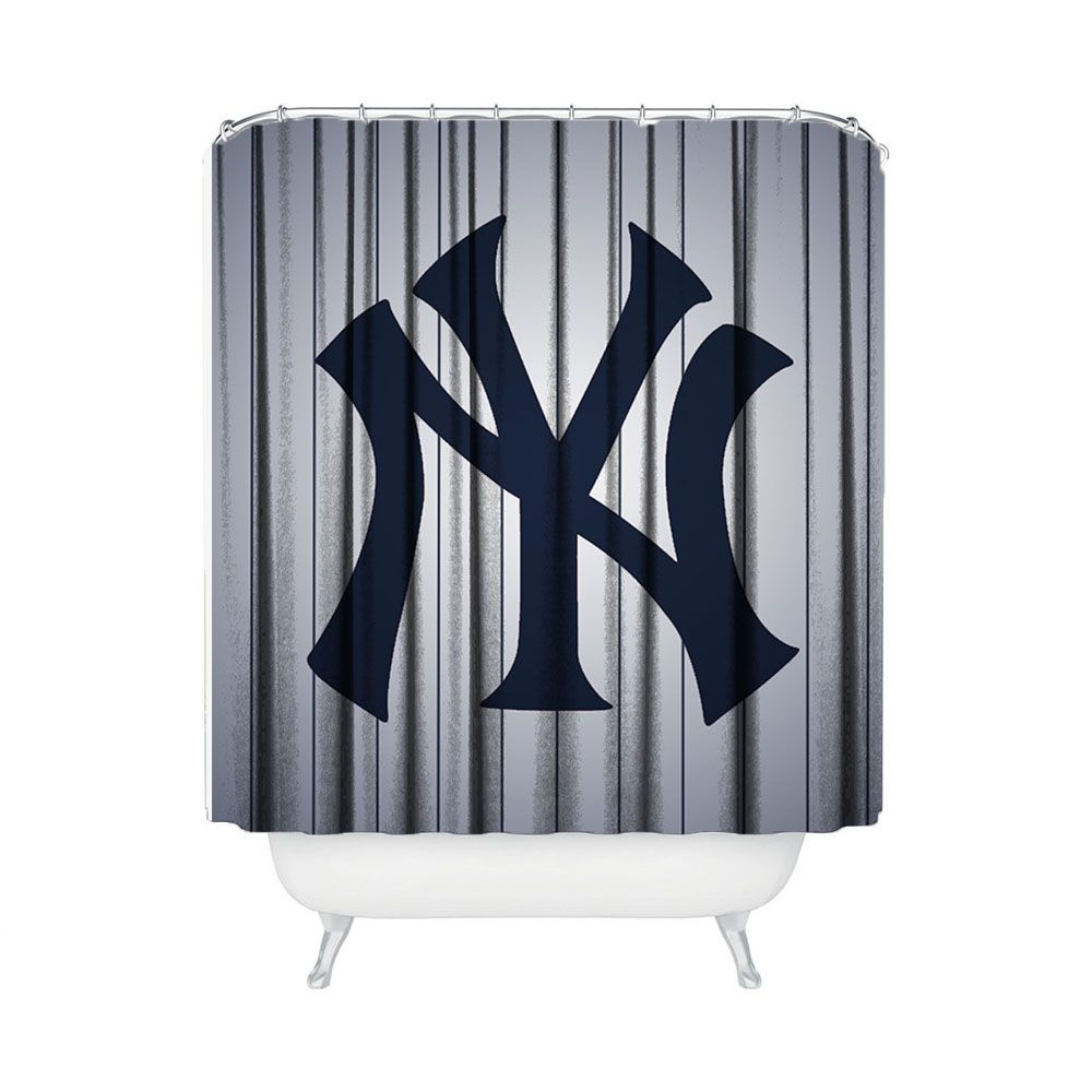 New York Yankees Baseball Shower Curtain Bathroom Home Decor