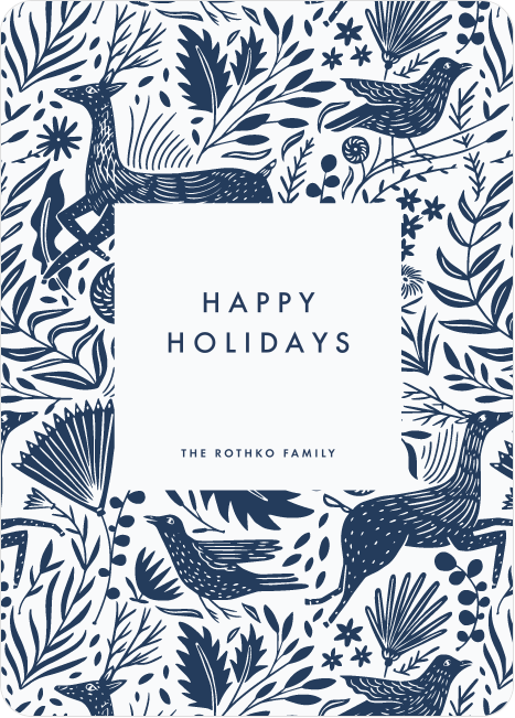 Winter Woodblock Pattern Business and Corporate Holiday