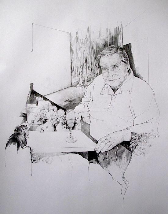 L'Autre Banquet  2012  80X120  Pencil on paper