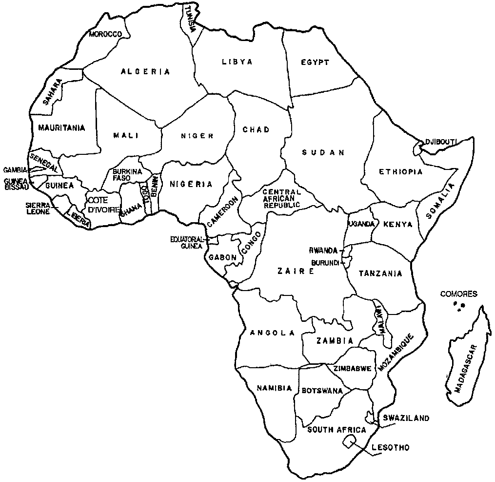 Africa Coloring Book Pages African