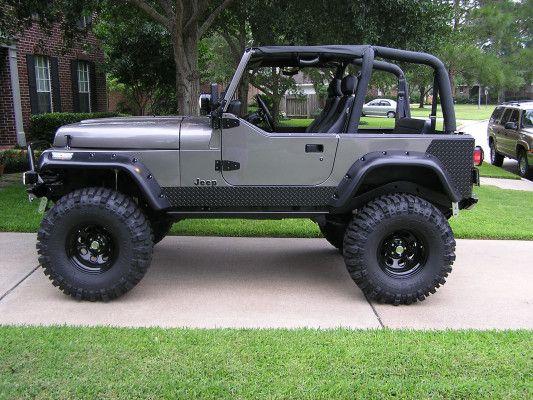 Like The Gunmetal Grey Color Soa R E 1 5 Springs On 35x16 Boggers Jeep Yj Jeep Jeep Cj7