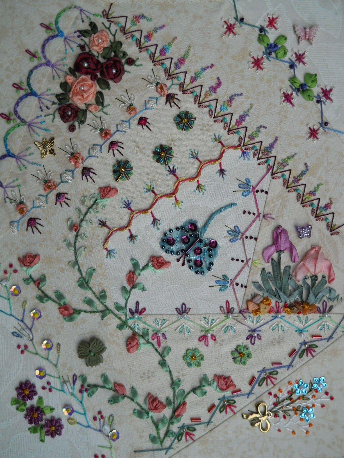 Clair T., Australia   Crazy quilts patterns, Crazy quilt stitches ...