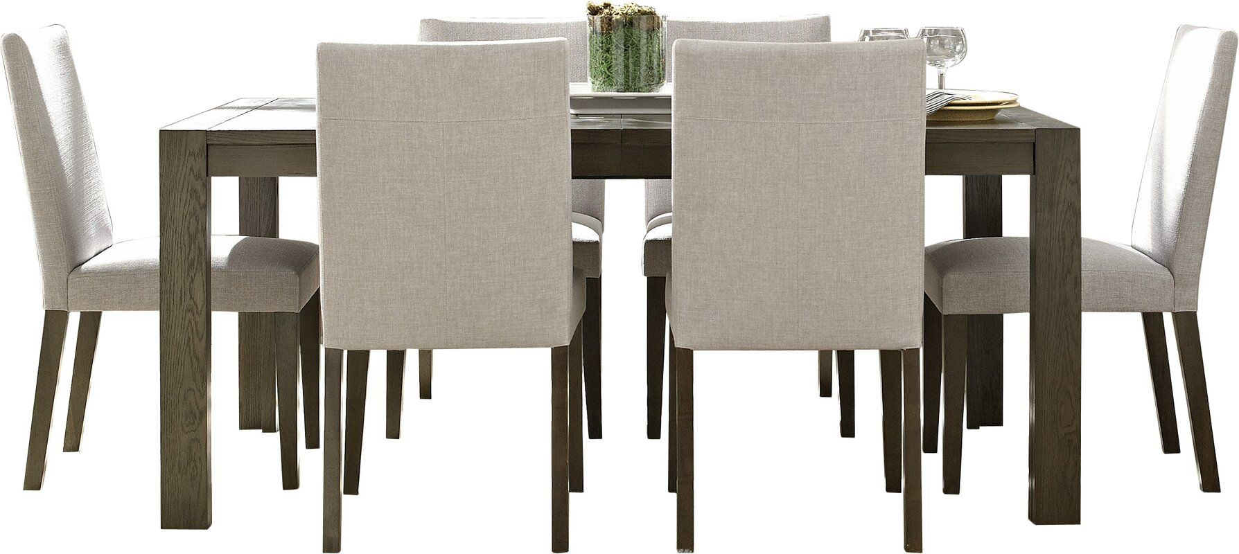 Wade Logan Girard 7 Piece Extendable Dining Set Wayfair Dining Room Sets Contemporary Dining Room Sets Dining Room Design