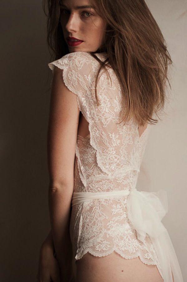84cac67325de3 Sexy-Classy Bridal Lingerie to Wear on Your Wedding Night - MODwedding  Pearl Bodysuit by Sally Jones