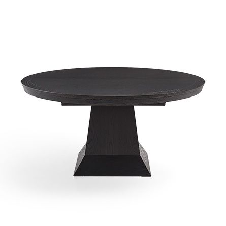 Leighton Round Pedestal Dining Table In Black Round Pedestal - Black oval pedestal dining table