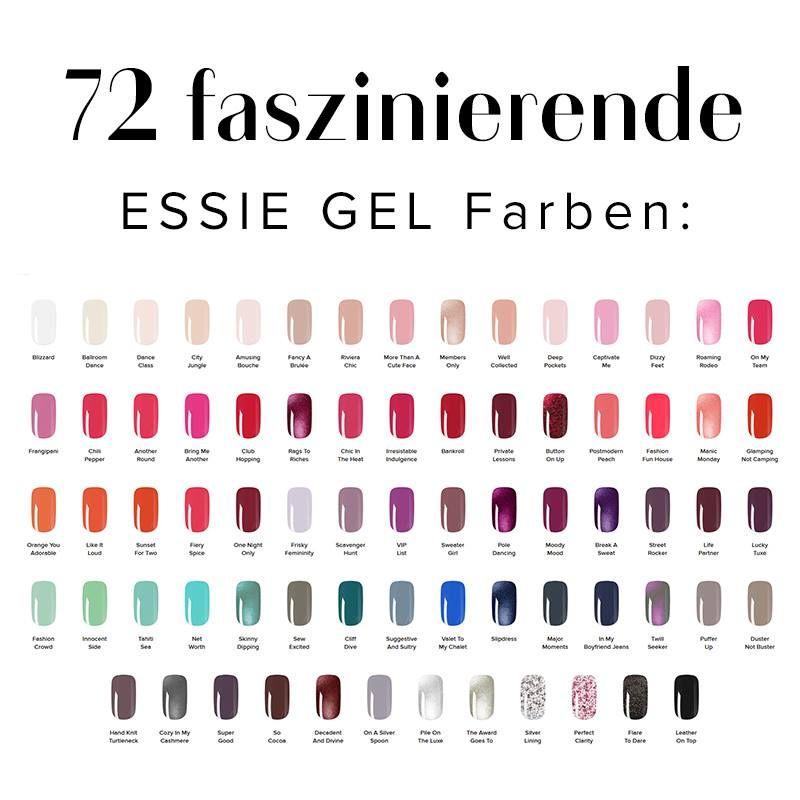 72 faszinierende essie∙gel Farben warten auf euch. Seht euch hier ...