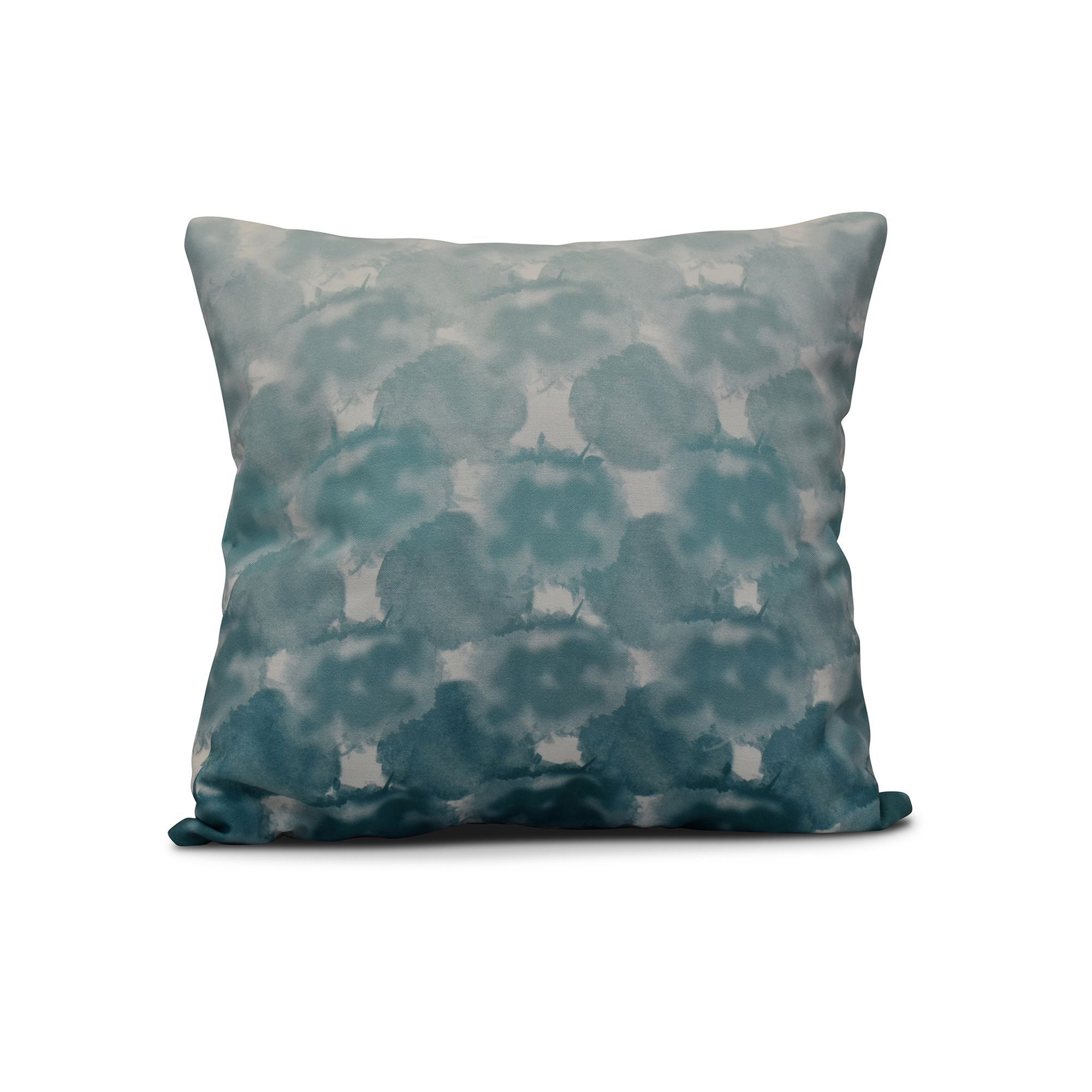 E by design x inch beach clouds geometric print pillow teal