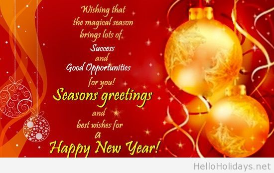 Holidays wishes message card happy new year pinterest messages send your heartfelt wishes for the magical season to all the people you know with this happy holidays business greeting card m4hsunfo Choice Image