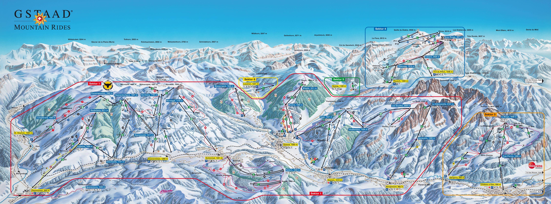 gstaad mountain rides ski trail map - gstaad mountain rides 3780