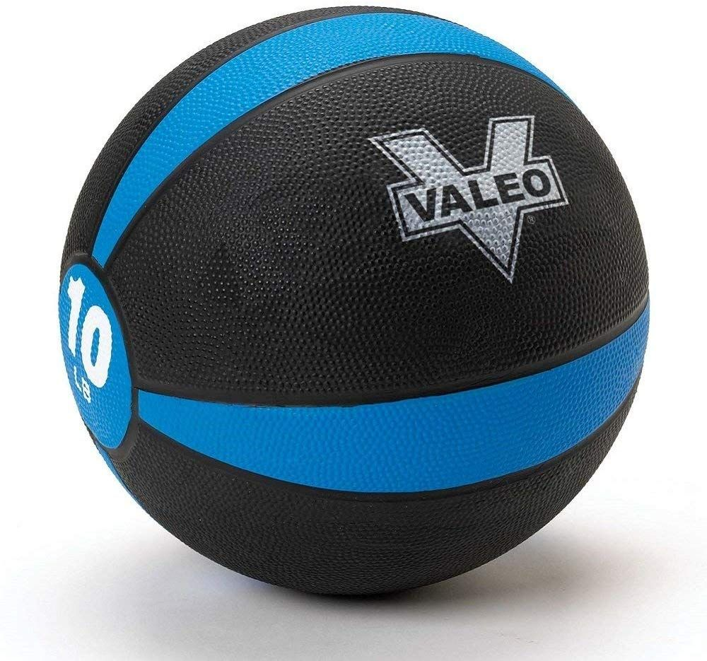 Valeo Pound Medicine Ball With Sturdy Rubber Construction And Textured Finish Weight Ball Includes Exercise Wall Chart For Strength Training Plyometric Train In 2020 Weight Ball Medicine Ball Medicine Ball Ab Workout