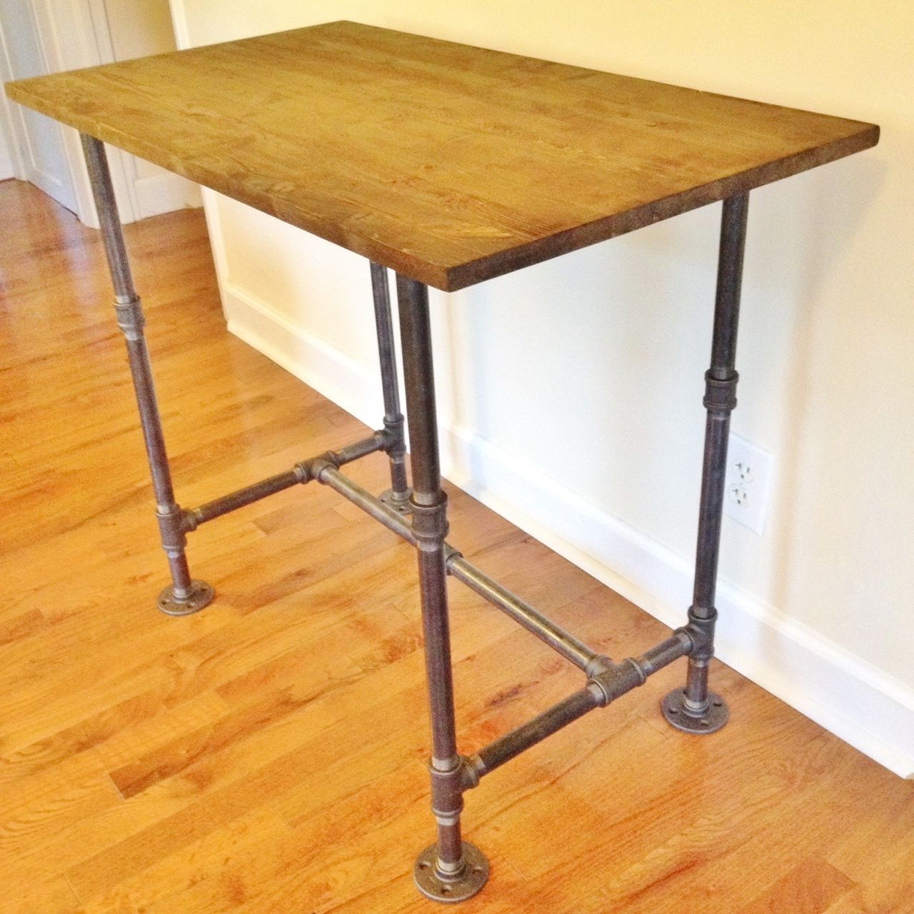 Desk, Computer Desk, Student Desk, Etsy Desk, Wood Desk, Steel Tubes   Handmade ...