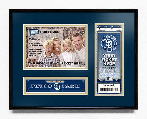 San Diego Padres 5x7 Photo and Ticket Frame - Petco Park / My First Game