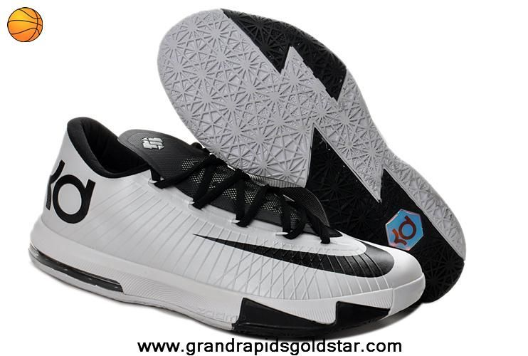 super popular 2b79d 381c9 Kevin Durant Shoes Black White 599424-104 Nike Zoom KD 6 Low
