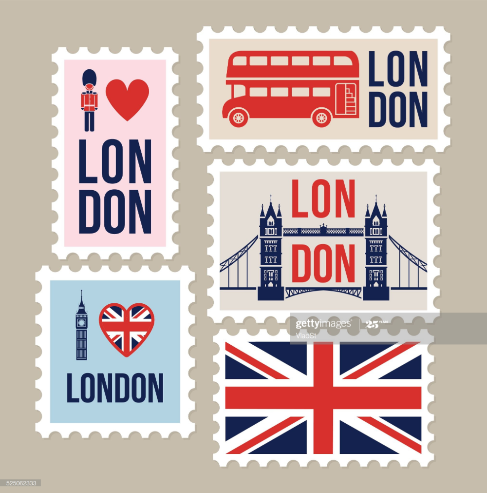 London Great Britain Mail Travel Stamps Travel Stamp London Travel Scrapbook