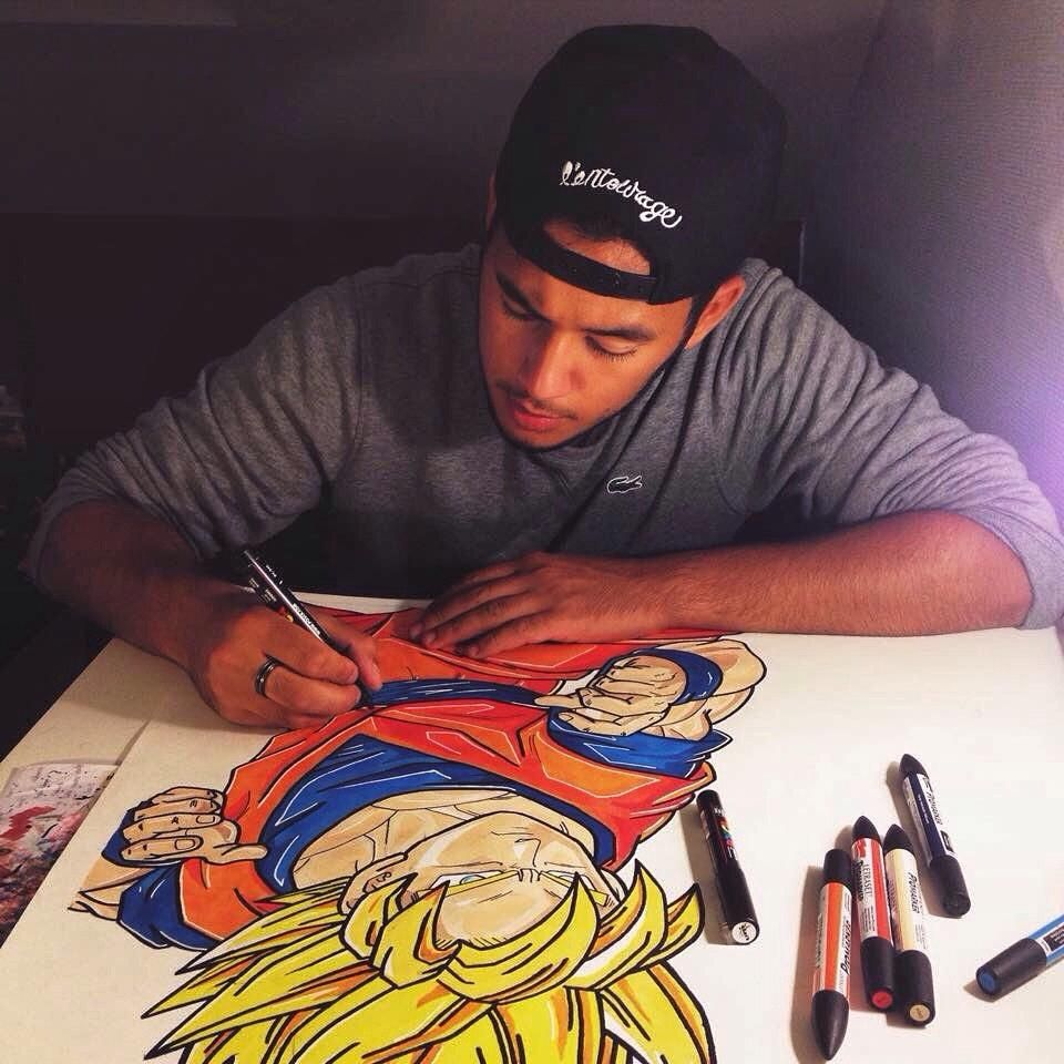 Props to this man. What a great talent. #dbz #goku
