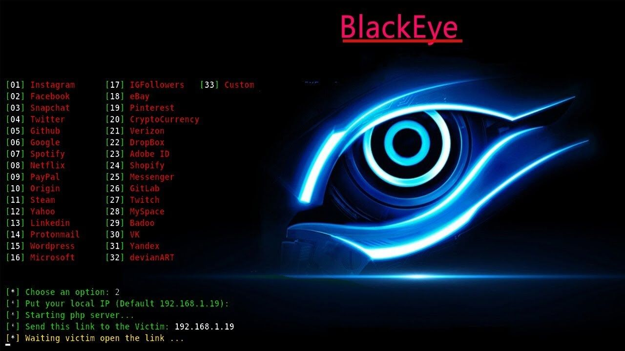 How to hack social media with termux using hidden eye tool