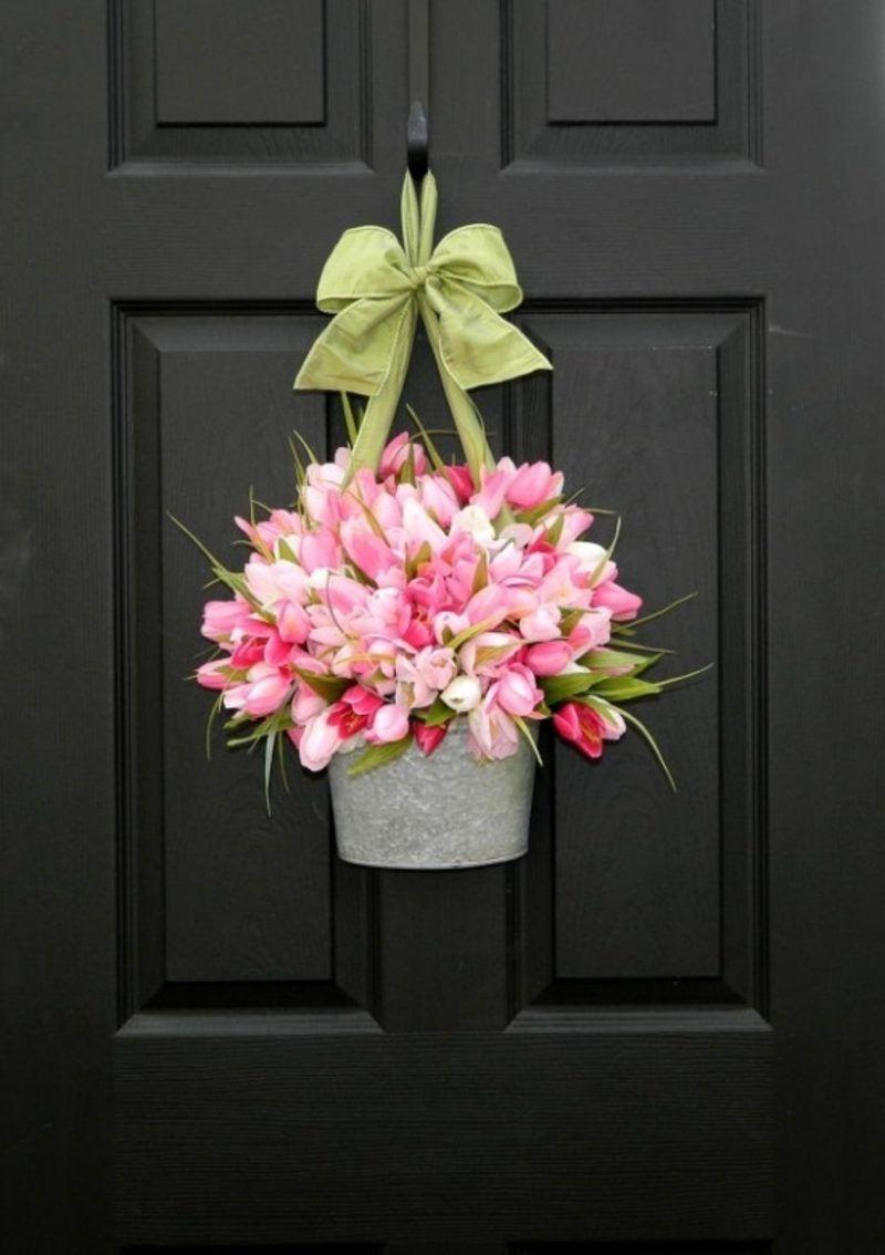 dekoideen fr hling blumentopf tulpen t rkr nze. Black Bedroom Furniture Sets. Home Design Ideas