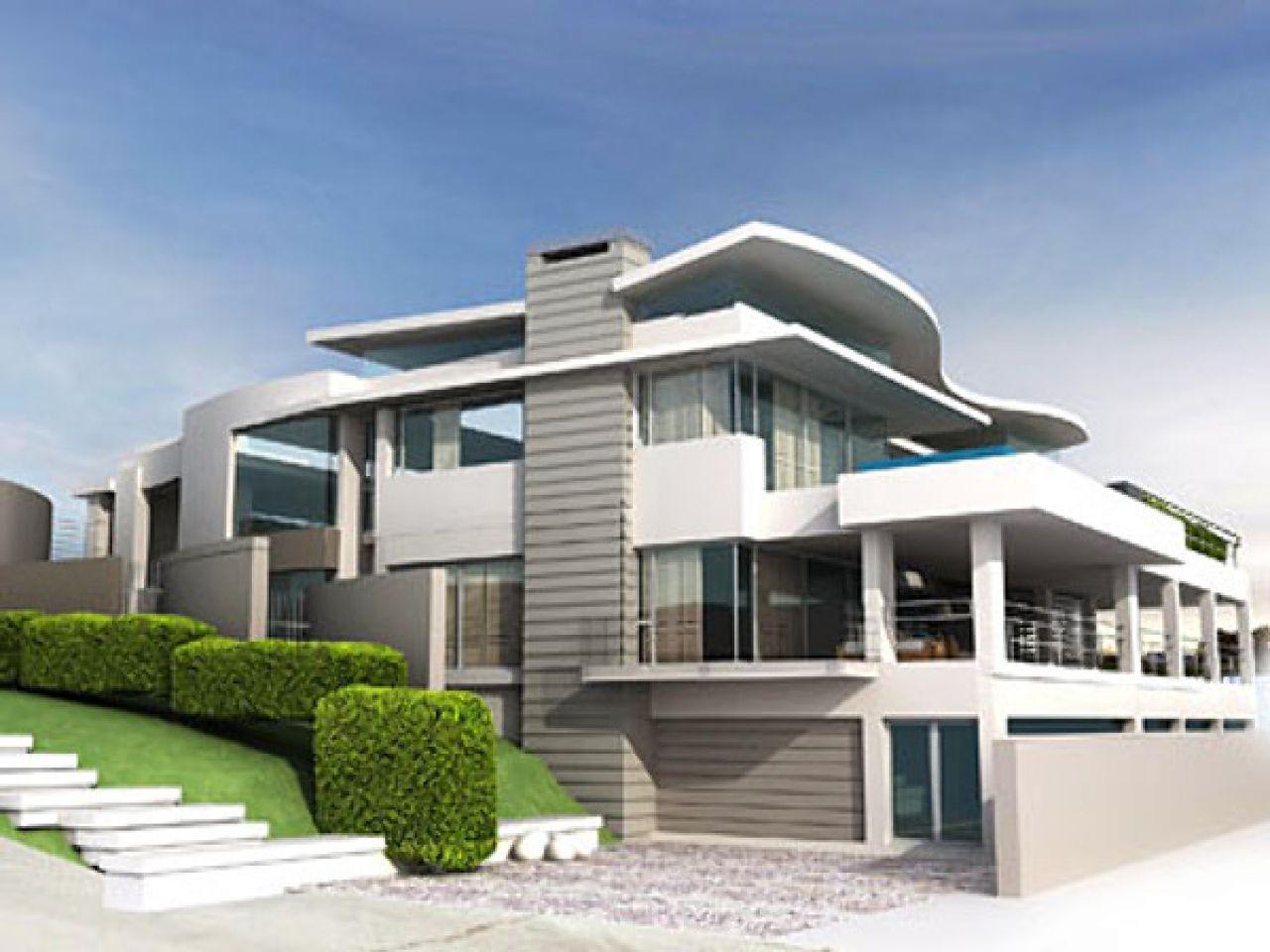 Modern house 3d model modern beach house modern house