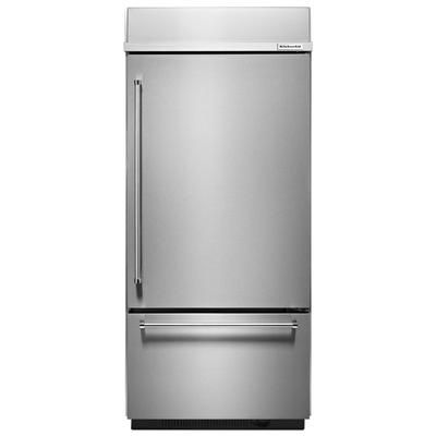 Kitchenaid Built In Bottom Mount Refrigerator 20 9 Cu Ft 36 In