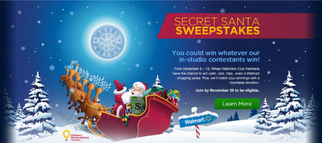 Secret santa sweepstakes wheel of fortune