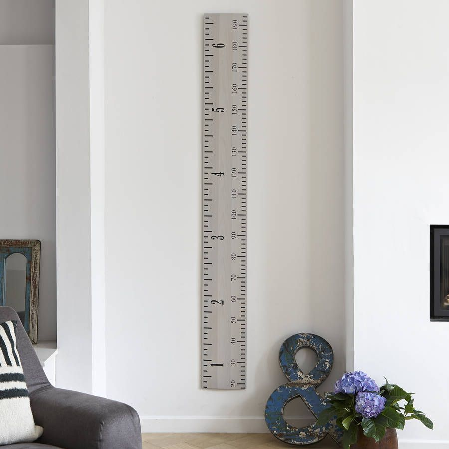 Wooden ruler growth chart in white grey and putty height chart are you interested in our personalised white wooden ruler growth chart with our giant vintage nvjuhfo Image collections