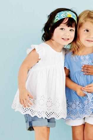 Kaufen Sie Bluse mit Lochstickerei (3 Monate – 6 Jahre) heute online ...