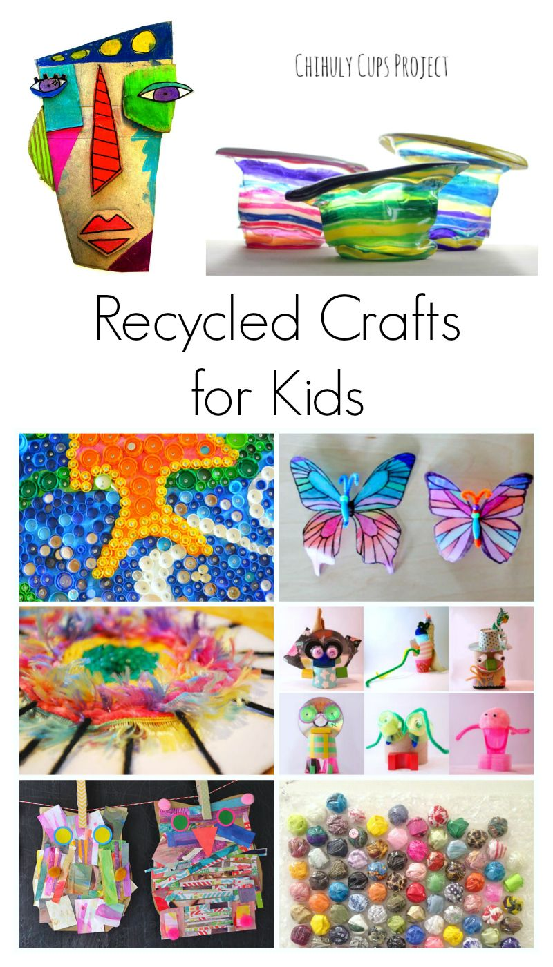 Amazing Recycled Crafts For Kids Recycled Crafts Kids Art For