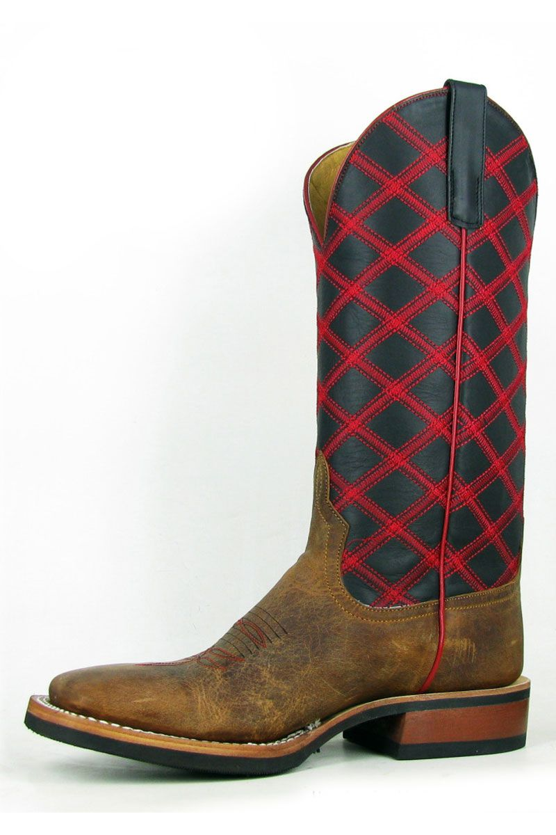 Mens Cowboy Boots Anderson Bean Mouse Moreno Square Toe Boots ...