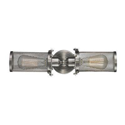 Innovations Lighting Quincy Hall 2 Light Bowtie Wall Sconce Finish: Satin Nickel