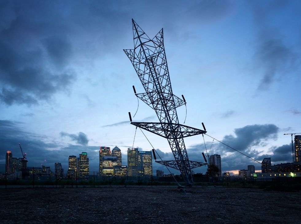 Giant Inverted Pylon Appears In Greenwich | Londonist by Alex Chinneck
