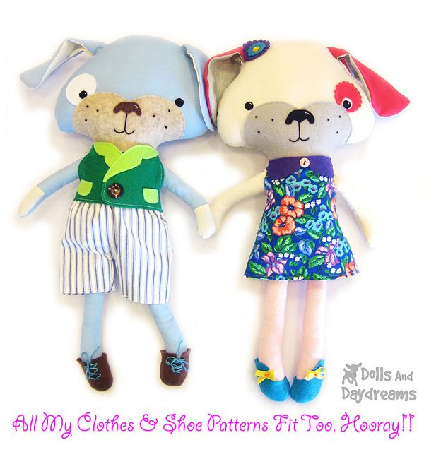 dog softie plushie stuffed toy PDF Sewing Pattern | Perros ...