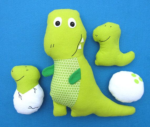 Tony T-Rex Pattern with Baby Dinosaur Set, Tracy TRex Stuffed Toy ...