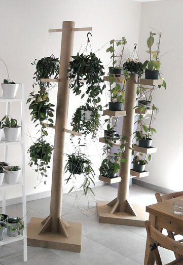 Pr sentoir plantes en carton carton pinterest pr sentoir loisirs cr atifs et carton - Support a roulettes pour plantes ...
