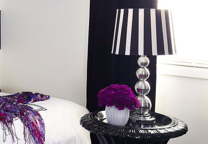 Someone gave me a hand me down lamp its boringuglyplain but i black and white striped lampshade aloadofball Gallery