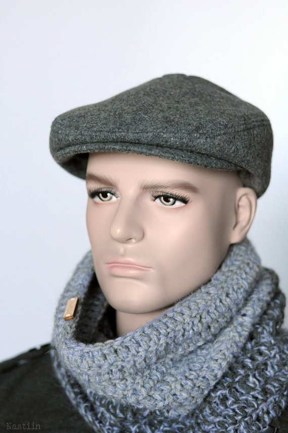 Gray newsboy hat Winter newsboy hat Driver cap Mens newsboy cap Womens  newsboy cap Peaky Blinders ha 62f9bcfab73