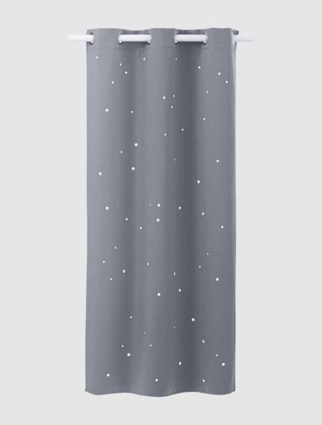 Rideau assombrissant étoiles gris - Vertbaudet | Rideau ...