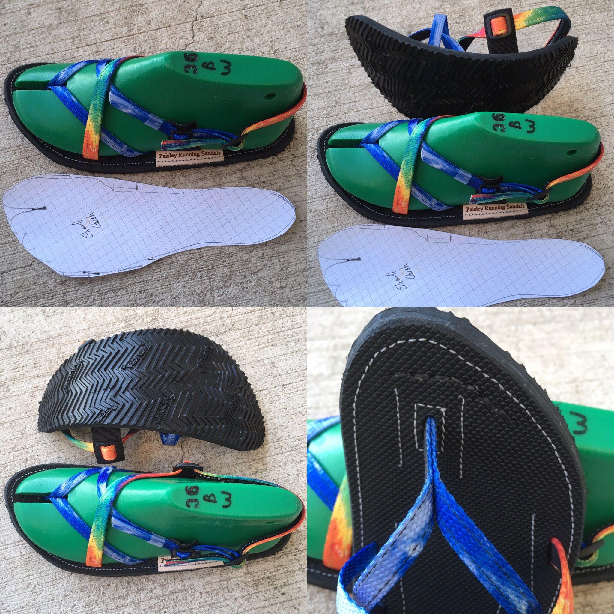 Custom made sandals  Handmade in Colorado  Shown in blue
