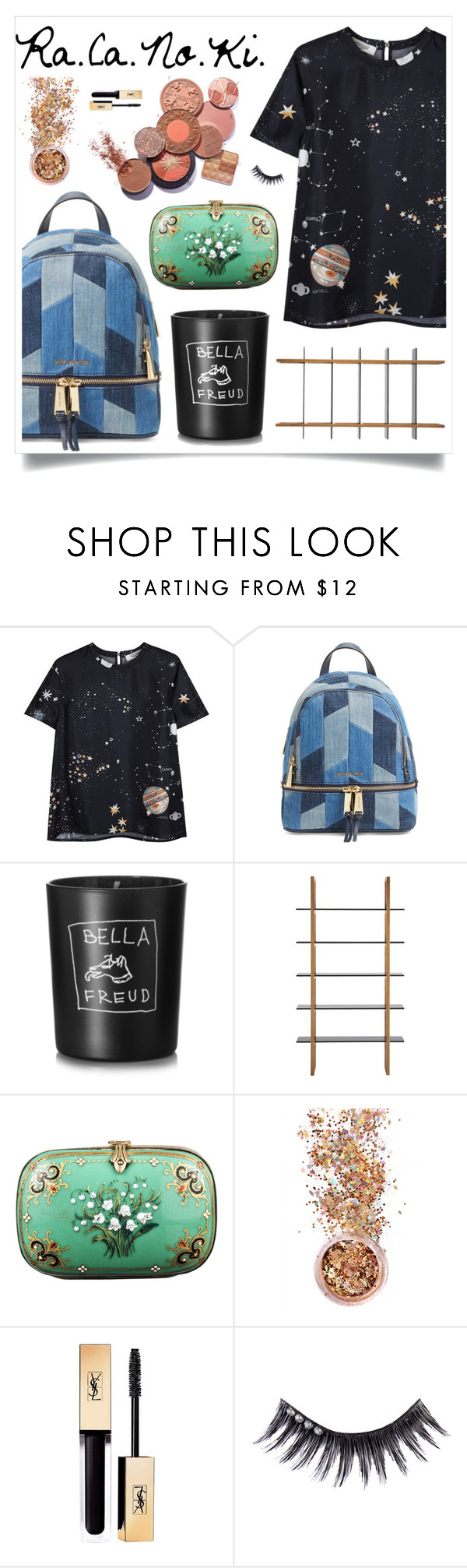 """""""I'm Kinda Just Everywhere"""" by racanoki ❤ liked on Polyvore featuring Valentino, Michael Kors, Bella Freud, Alexis Bittar, In Your Dreams, Yves Saint Laurent, Manic Panic and RaCaNoKi"""