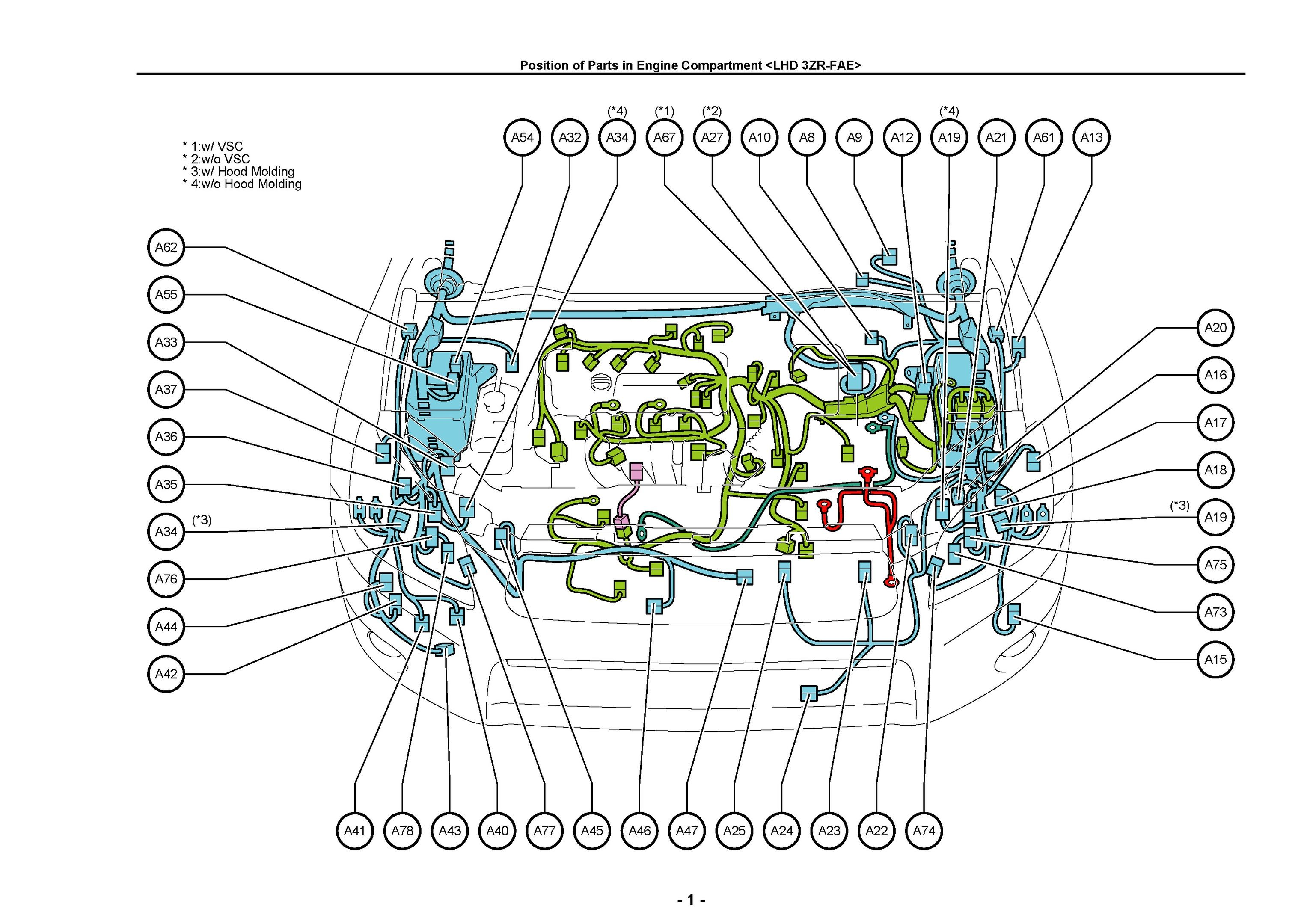 UK, Europe, North America, Toyota RAV4, Electrical Wiring ...