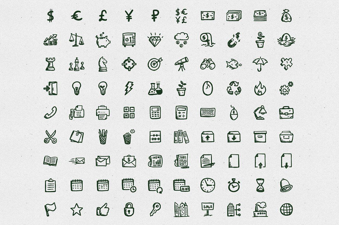 Busy Icons Font Business icon, Icon font, How to draw hands