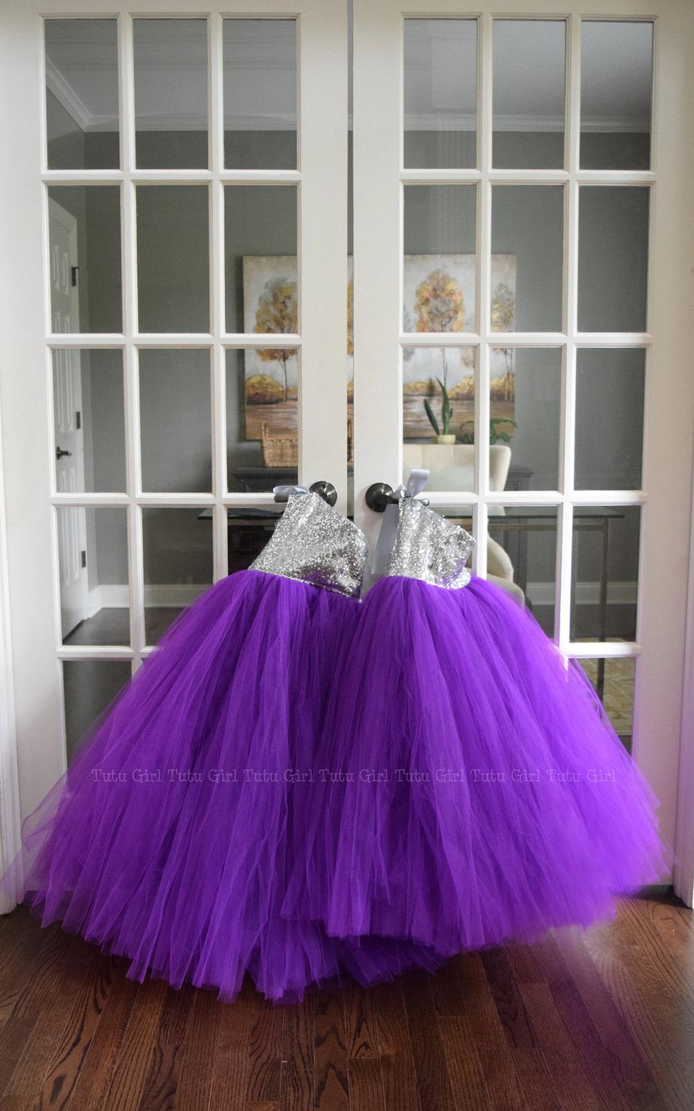 Silver And Purple Flower Girl Dress Purple Tutu Dress With Etsy Purple Flower Girl Dress Purple Flower Girls Purple Flowers [ 1601 x 1000 Pixel ]