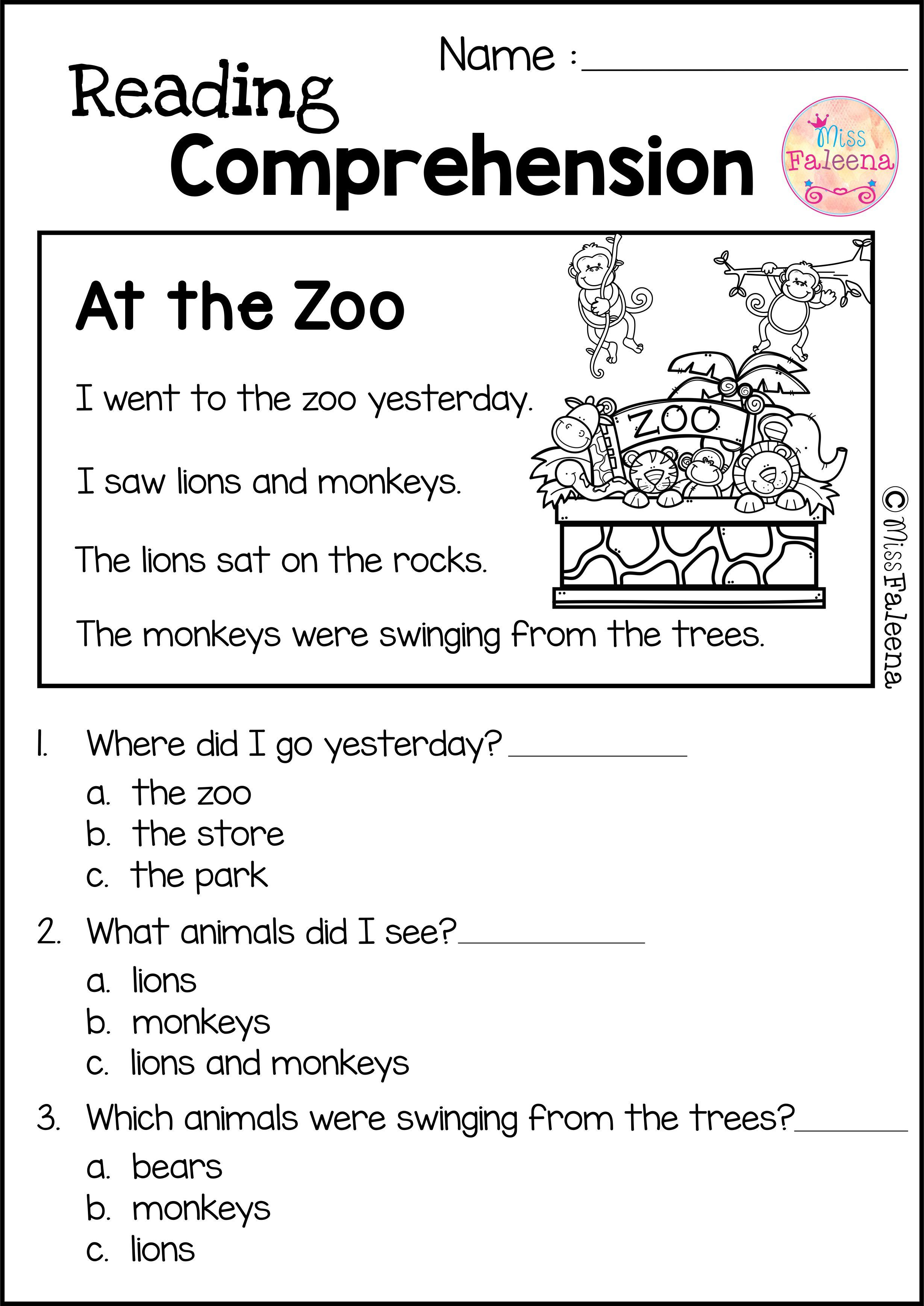 - Reading Comprehension Set 2 Reading Comprehension Worksheets