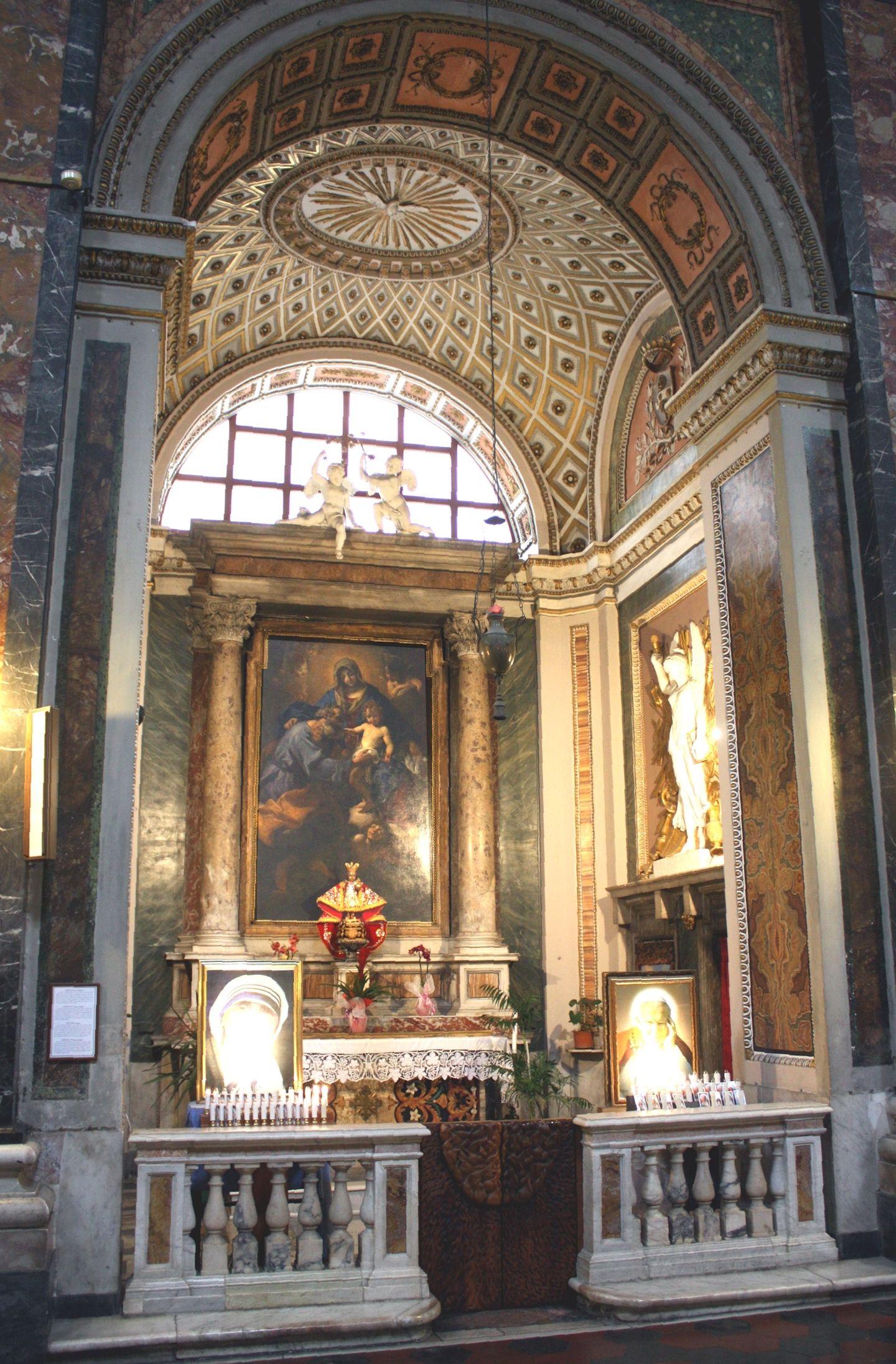Gesu e maria rome chapel of st joseph the altarpiece