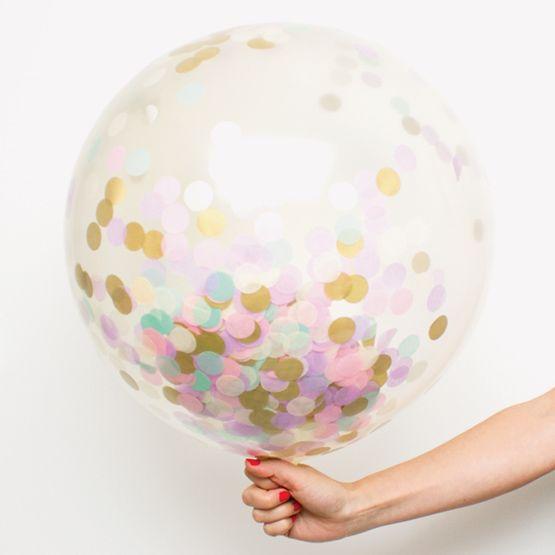 Ballon géant transparent avec ou sans confettis Pour d autres