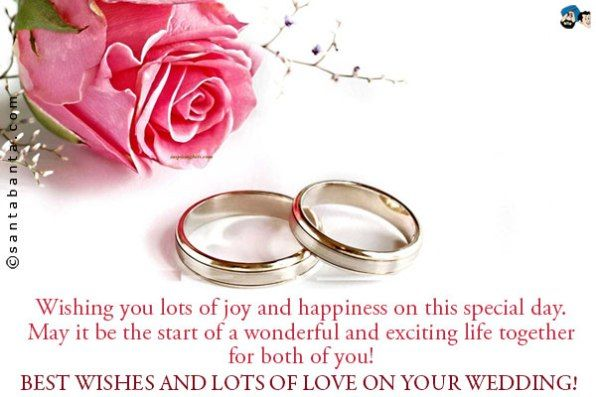 wedding wishes congratulations to