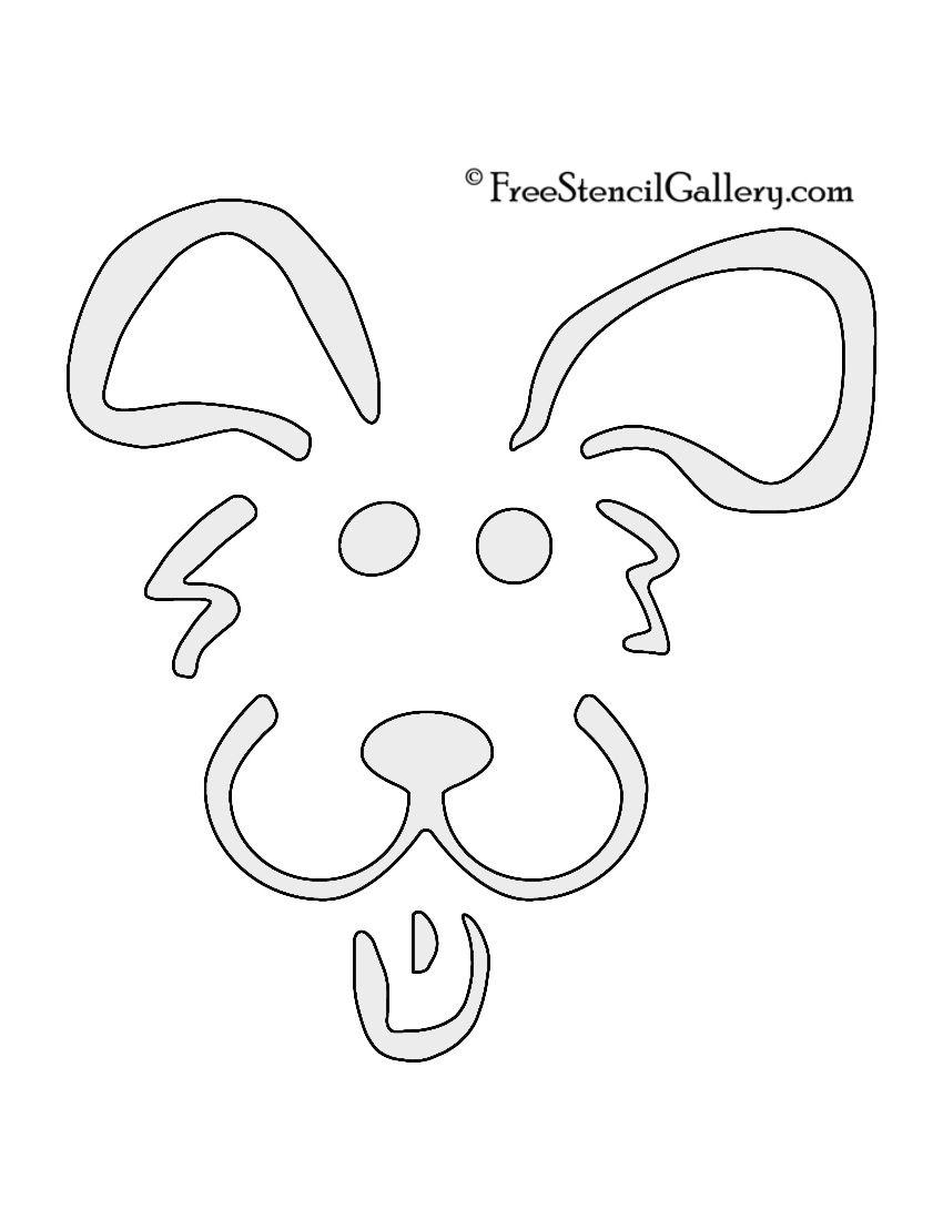 Dog stencils stencil crafts pinterest