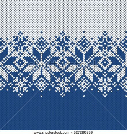 Norway Festive Sweater Fairisle Design. Seamless Knitting Pattern ...