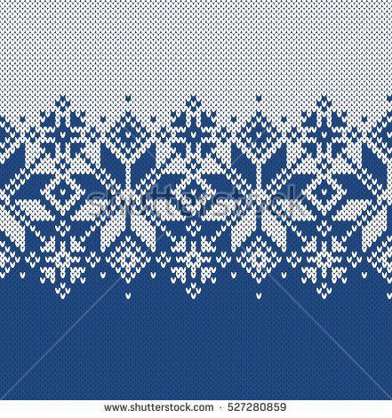 Norway Festive Sweater Fairisle Design. Seamless Knitting Pattern ...